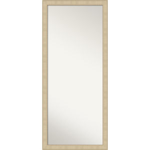 Honey and Silver 28W X 64H-Inch Full Length Floor Leaner Mirror