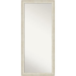 Regal White 29W X 65H-Inch Full Length Floor Leaner Mirror