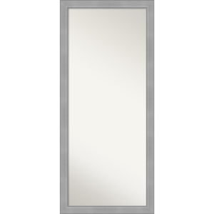 Vista Brushed Nickel 29W X 65H-Inch Full Length Floor Leaner Mirror