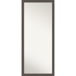 Pewter 28W X 64H-Inch Full Length Floor Leaner Mirror