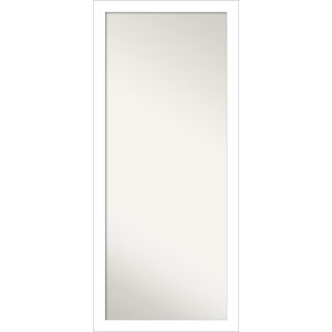 Wedge White 28W X 64H-Inch Full Length Floor Leaner Mirror