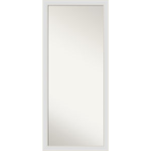 Flair White 28W X 64H-Inch Full Length Floor Leaner Mirror