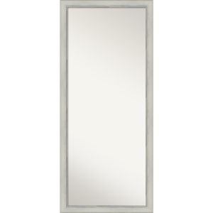 Flair Silver 28W X 64H-Inch Full Length Floor Leaner Mirror