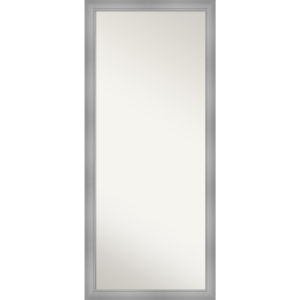 Flair Brushed Nickel 28W X 64H-Inch Full Length Floor Leaner Mirror