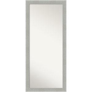 Gray Frame 29W X 65H-Inch Full Length Floor Leaner Mirror