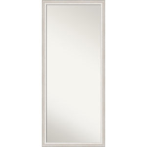 Trio White and Silver 28W X 64H-Inch Full Length Floor Leaner Mirror