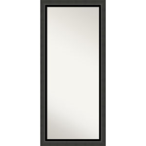 Tuxedo Black 30W X 66H-Inch Full Length Floor Leaner Mirror