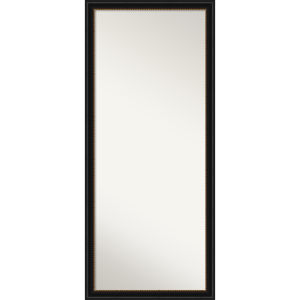 Manhattan Black 28W X 64H-Inch Full Length Floor Leaner Mirror