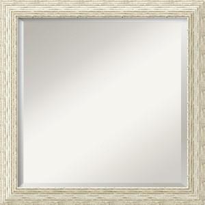 Cape Cod Distressed White Square Mirror