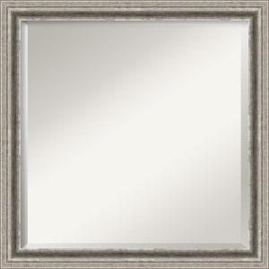 Bel Volto Pewter Square Mirror