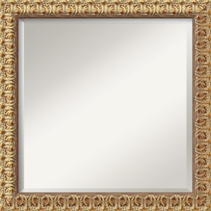 Florentine Gold and Red Square Mirror