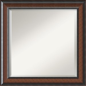 Cyprus Dark Walnut Square Mirror