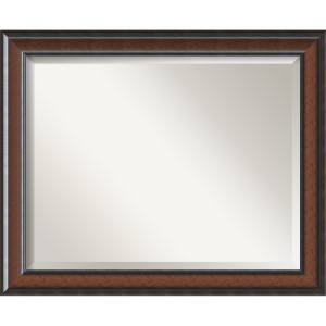 Cyprus Dark Walnut Large Rectangular Mirror