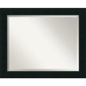 Corvino Black Large Rectangular Mirror