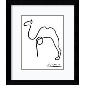 The Camel by Pablo Picasso: 12 x 14-Inch Framed Art Print