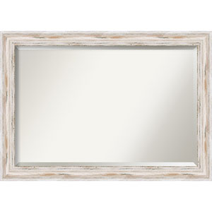 Alexandria Distressed Whitewash Extra Large Mirror