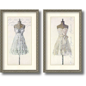 Tres Jolie and Elegante by Leila: 19 x 31-Inch Print Reproduction, Set of Two