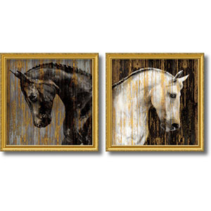 Horse by Martin Rose: 30.5 x 30.5-Inch Print Reproduction, Set of Two
