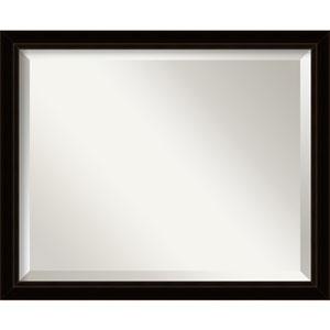 Sateen Black Medium Wall Mirror