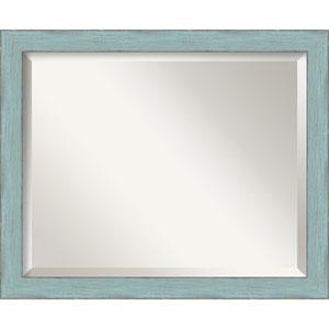 Sky Blue Medium Rustic Wall Mirror