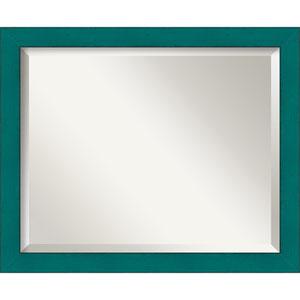 French Teal Medium Rustic Wall Mirror