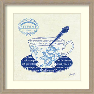 Blue Cups I by Stefania Ferri: 27 x 27-Inch Framed Art Print