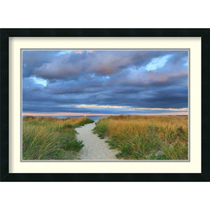 Jetties Beach Path by Katherine Gendreau: 30 x 22-Inch Framed Art Print