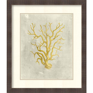 Coral in Mustard by Vision Studio: 24 x 28-Inch Framed Art Print