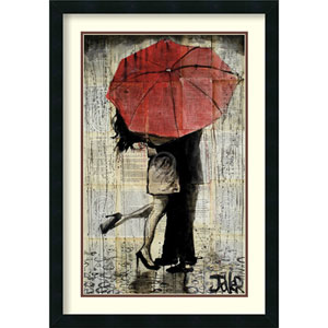 The Red Umbrella by Loui Jover: 21 x 30-Inch Framed Art Print
