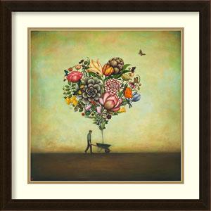 Big Heart Botany by Duy Huynh: 22 x 22-Inch Framed Art Print