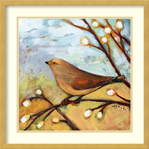 Longing for You Part II Bird by Jennifer Lommers: 21 x 21-Inch Framed Art