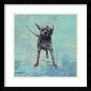 Shake No. 3 Dog by Rebecca Kinkead: 17 x 17-Inch Framed Art