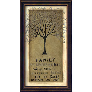 Family Tree by Cindy Shamp: 9 x 16-Inch Framed Art