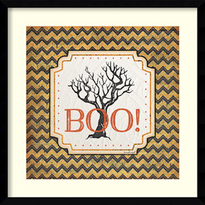 Halloween - Boo by Jennifer Pugh: 21 x 21-Inch Framed Art