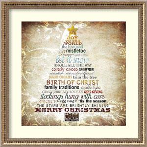Christmas Tree Subway Art by Sally Barlow: 22 x 22-Inch Framed Art
