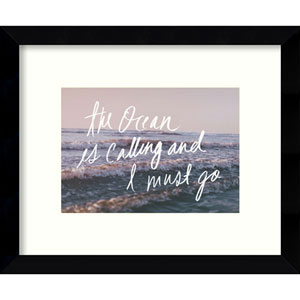 The Ocean Is Calling And I Must Go by Leah Flores: 11 x 9-Inch Framed Art