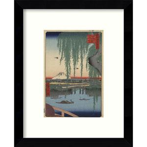 Yatsumi no Hashi 1856 by Ando Hiroshige: 9 x 11-Inch Framed Art
