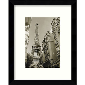 Eiffel Tower Street View #1 by Christian Peacock: 9 x 11-Inch Framed Art