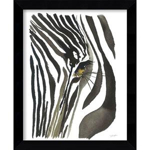 Zebra Eye by Jessica Durrant: 9 x 11-Inch Framed Art