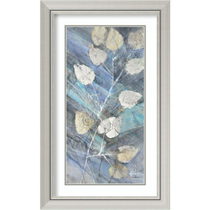 Silver Leaves II by Albena Hristova: 20 x 32-Inch Framed Art