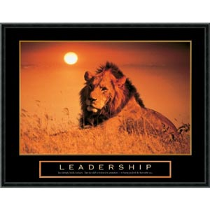 Leadership - Lion: 29 x 23 Print Reproduction