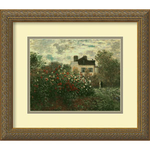 The Artist Garden at Argenteuil, 1873 by Claude Monet: 16 x 14 Print Reproduction