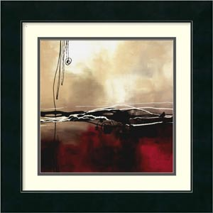 Symphony in Red and Khaki I by Laurie Maitland: 17 x 17 Print Reproduction