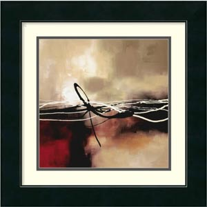 Symphony in Red and Khaki II by Laurie Maitland: 17 x 17 Print Reproduction