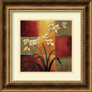 White Orchid by Jill Deveraux: 17 x 17 Print Reproduction