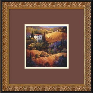 Evening Glow Tuscany by Nancy OToole: 18 x 18 Print Reproduction