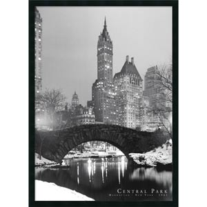 Central Park: 26 x 38 Print Reproduction