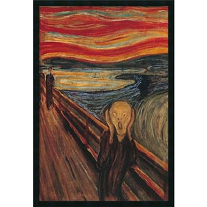 The Scream by Edvard Munch: 26 x 38 Print Reproduction