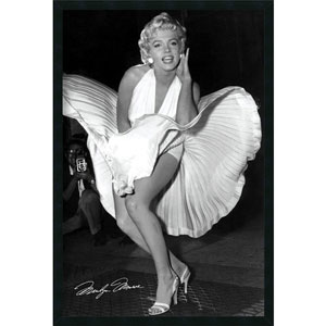 Marilyn in New York by Matthew Zimmerman: 25.4 x 37.4 Print Framed with Gel Coated Finish