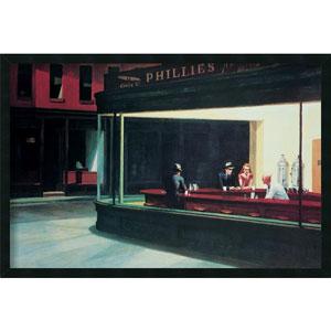 Nighthawks by Edward Hopper: 37.4 x 25.4 Print Framed with Gel Coated Finish